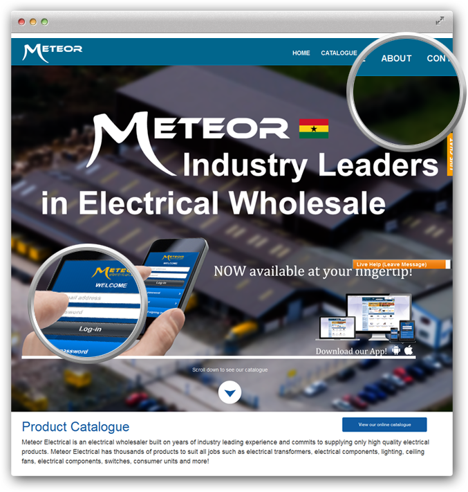 Meteor Electrical Ghana is an electrical wholesaler online store